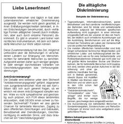 Broschüre Gleichstellung