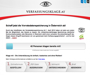 Homepage verfassungsklage.at