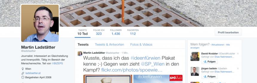 Startseite meines Tweeted-Accounts Februar 2015