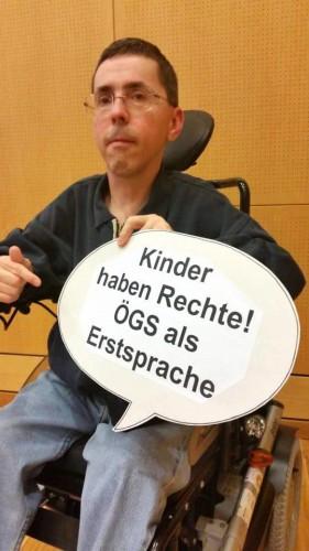 Kinder haben Rechte! ÖGS als Erstsprache (Foto: Ing. Lukas Huber)