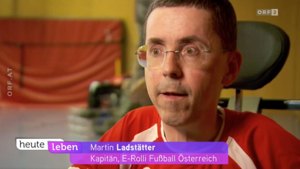"""ORF-Interview mit """"heute leben"""" zu E-Rolli Fußball"""