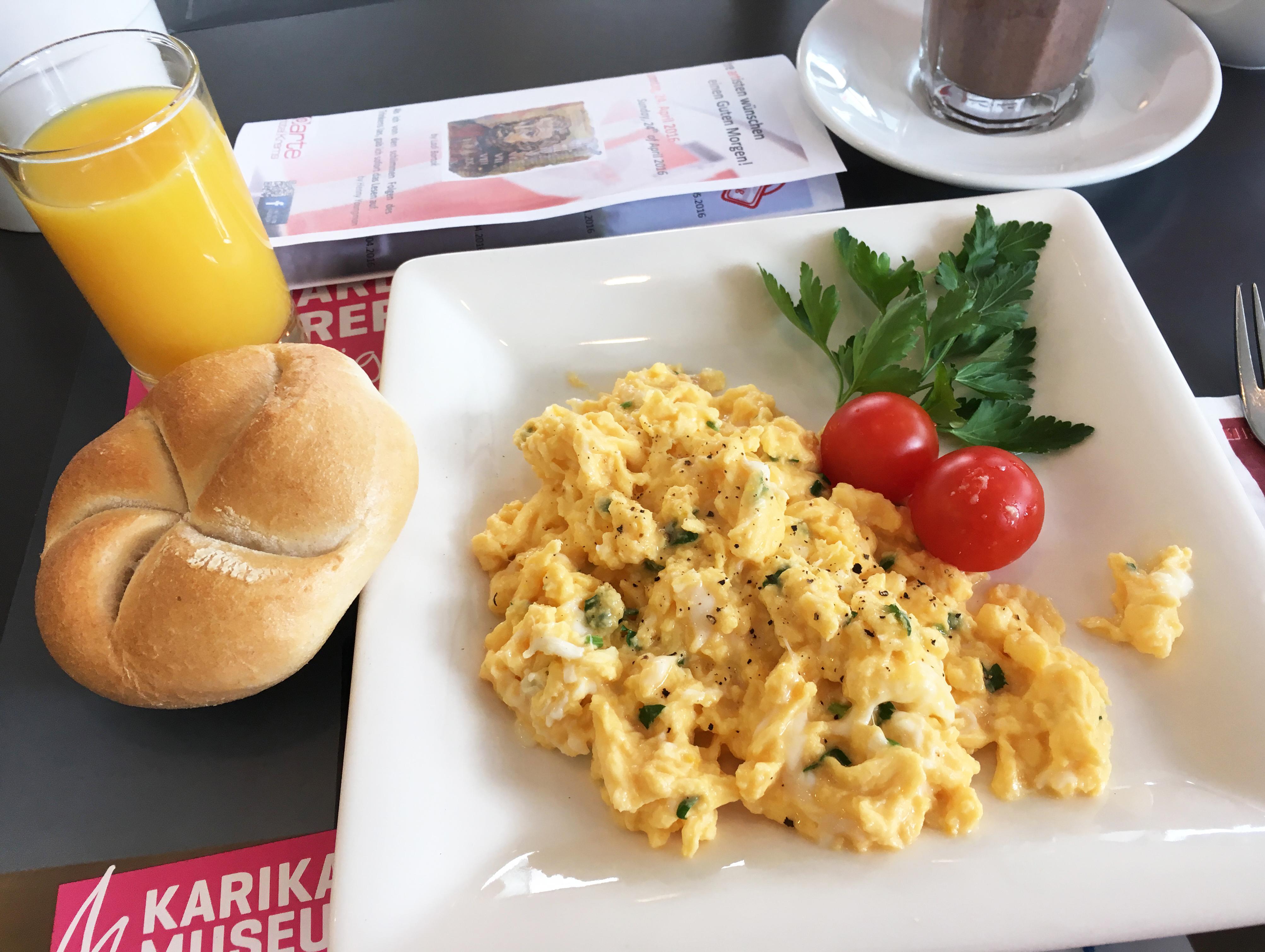Frühstück mit Eierspeise