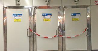 WC der Wiener Linien - gesperrt