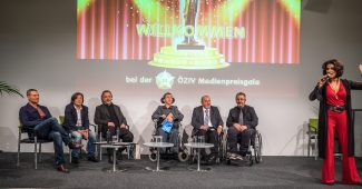 10. Medienpreisgala des ÖZIV: Markus Huth, Hans Wu, Stefan Pauser, Martin Ladstätter, Klaus Voget, Manfred Fischer