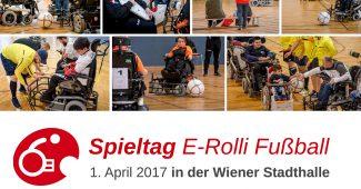 E-Rolli Fußball am 1. April in der Wiener Stadthalle