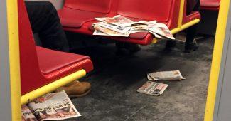 Gratiszeitungen in der U-Bahn