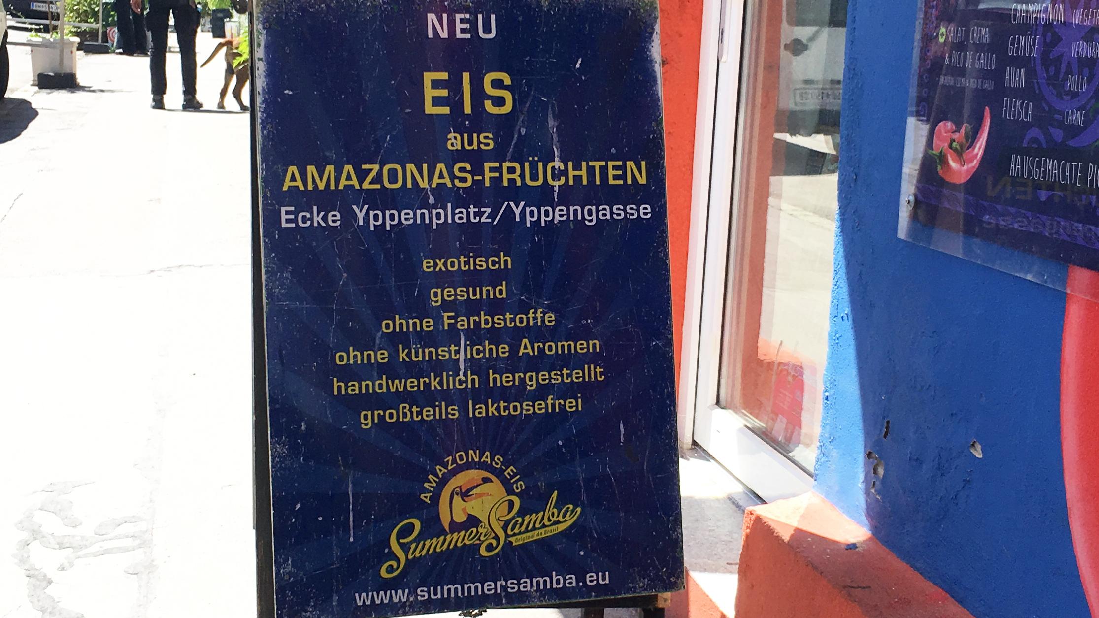 Eisgeschäft: Exotischer Fruchtgenuss mitten in Wien