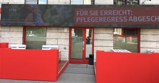 SPÖ-Zentrale mit nicht barrierefreien Jani-Garten