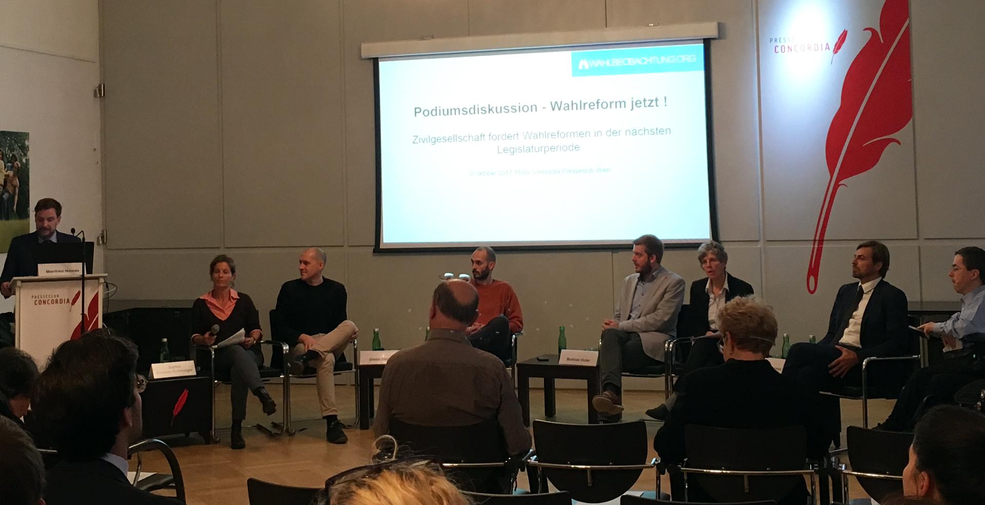 Veranstaltung im Presseklub Concordia am 3. Oktober 2017