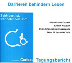 Broschüre Barrieren behindern Leben