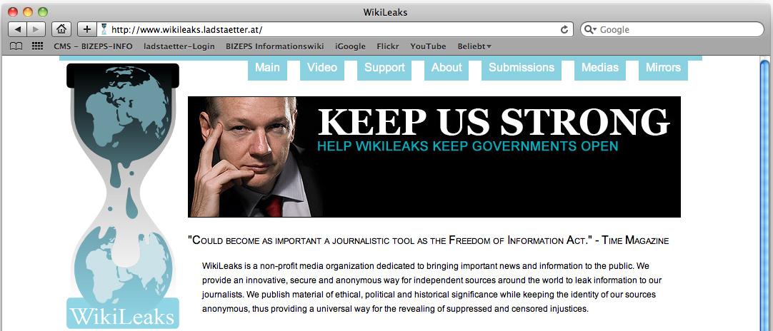 wikileaks auf ladstaetter.at gespiegelt