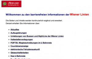 Sonderseiten der Wiener LInien
