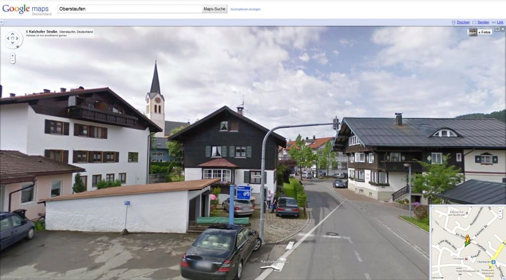 Ansicht Oberstaufen im Allgäu / Google street view