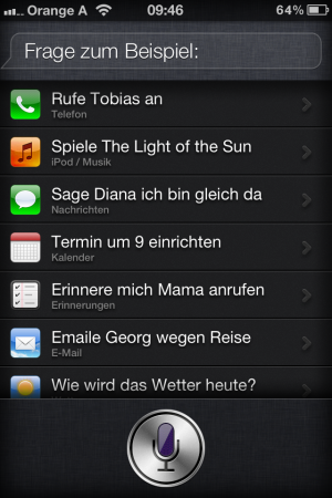 Spracherkennung Siri von Apple