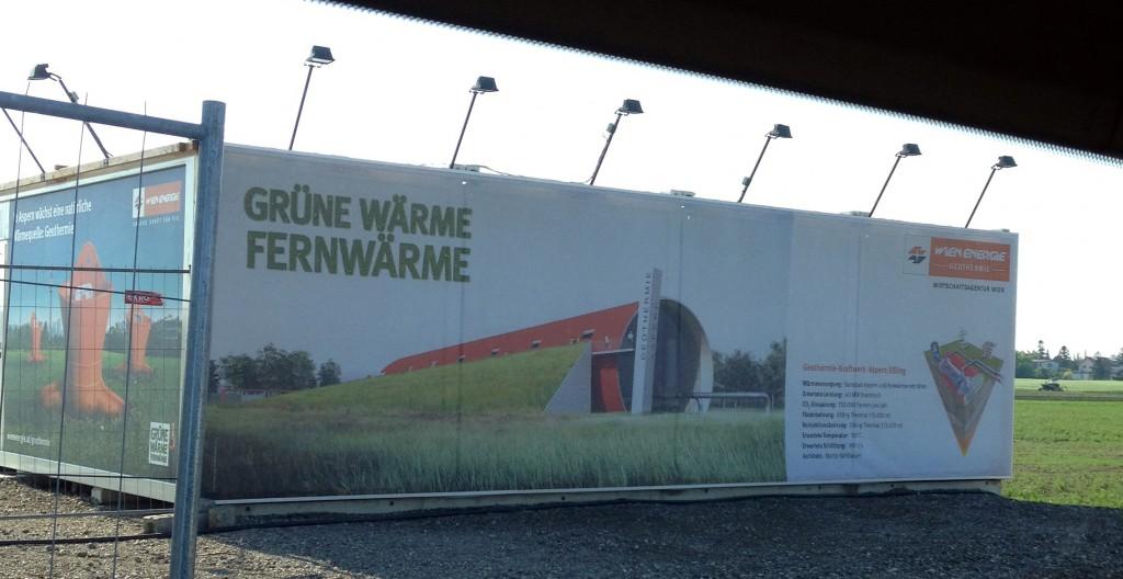 Baustelle des Geothermie-Kraftwerk Aspern/Essling