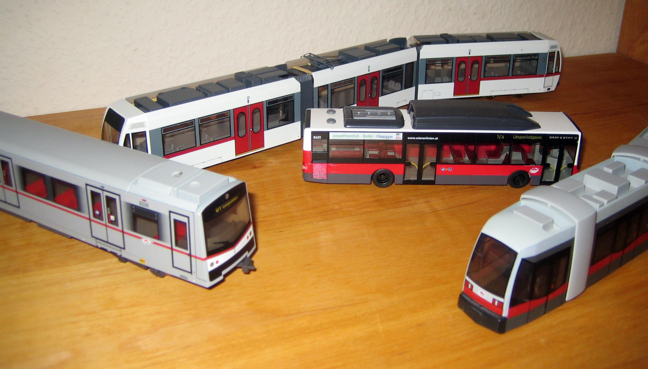 Modelle von Fahrzeugen der Wiener Linien