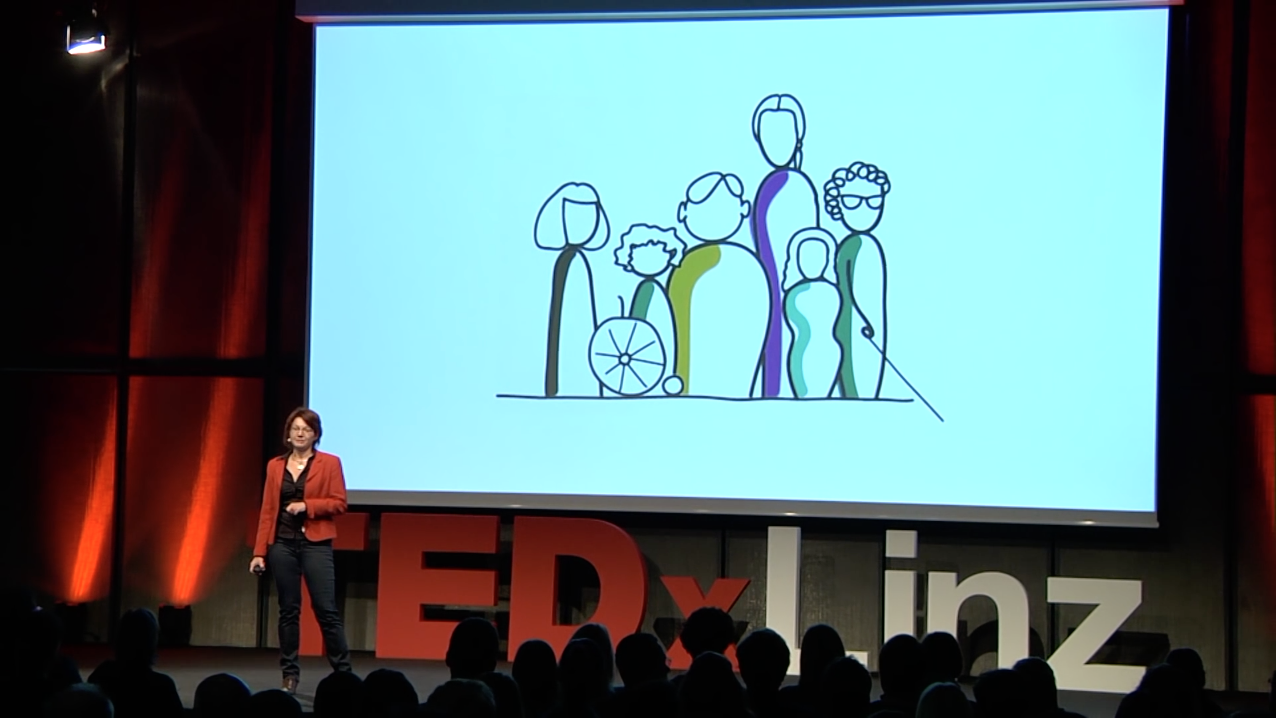 Walburga Fröhlich bei der TEDx Linz