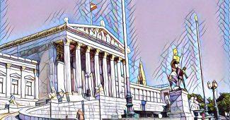 Parlament mit Kunstfilter von der App Prisma