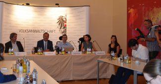 Pressekonferenz am 2. August 2016 in der Volksanwaltschaft zum 2. Lift / Foto: Volksanwaltschaft