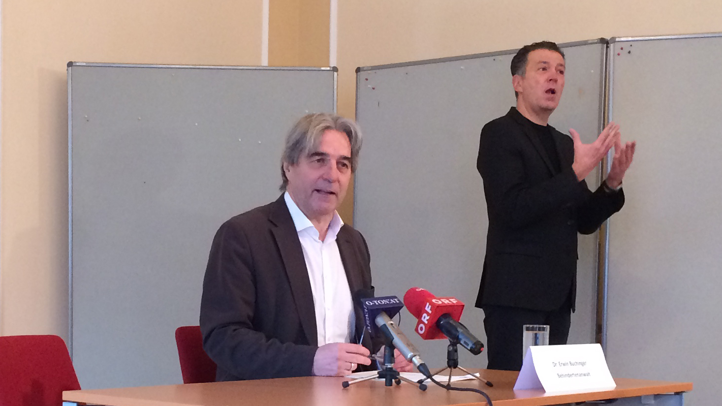 Erwin Buchinger beim Pressegespräch am am 9. Februar 2017