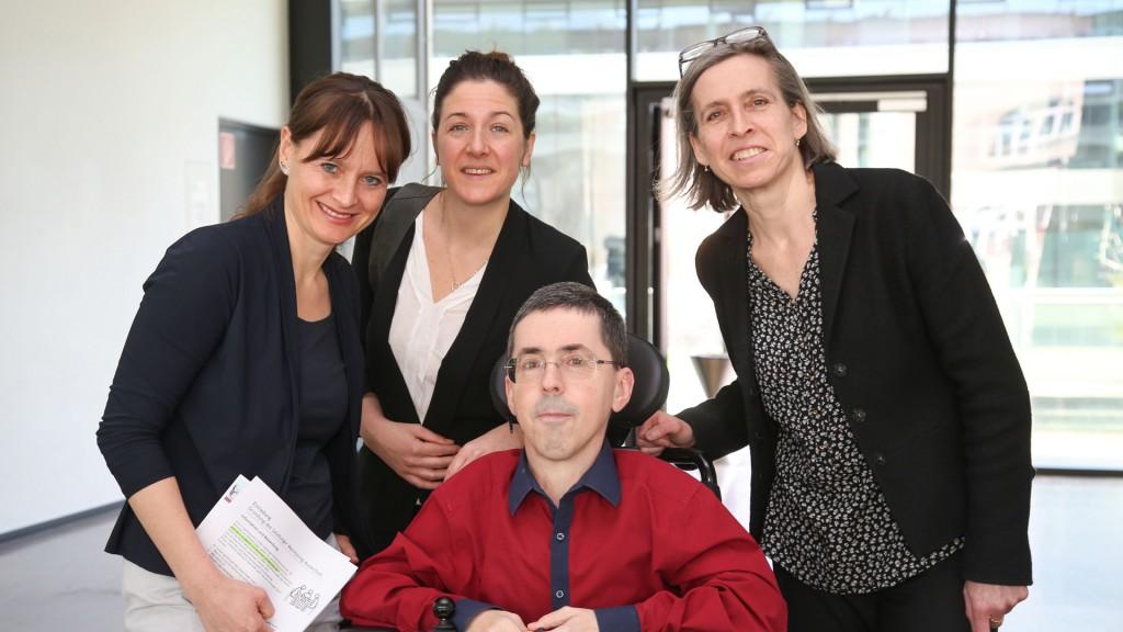 LR Martina Berthold, Christina Wurzinger, Martin Ladstätter und Ursula Naue