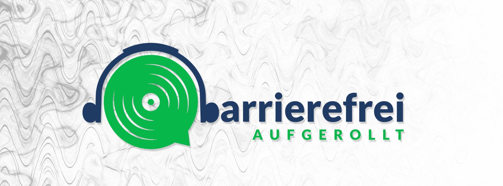 Logo: barrierefrei aufgerollt