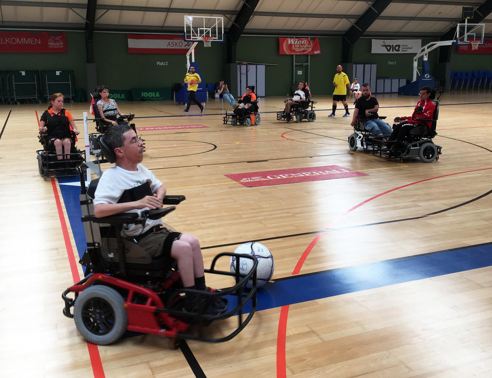 Trainingslager E-Rolli Fußball von 10. bis 13. Juli 2017 in Wien