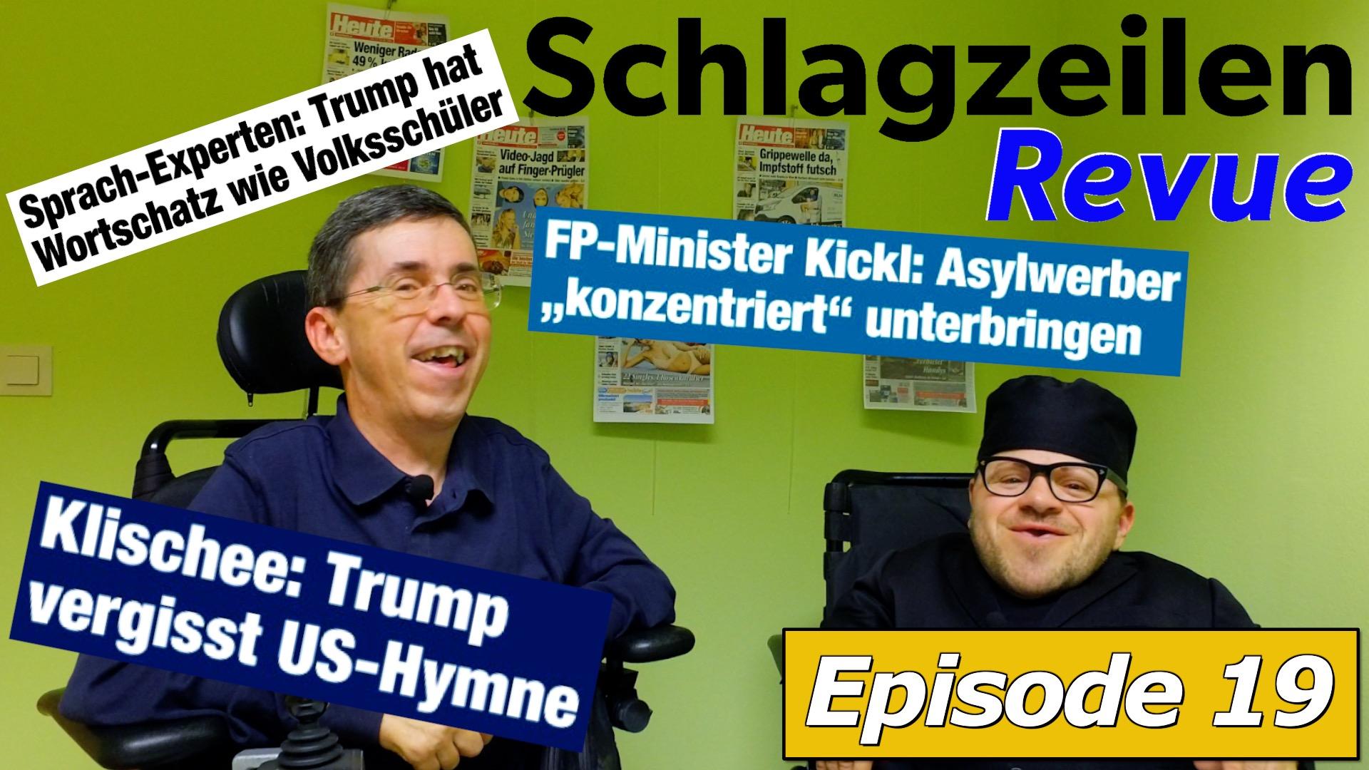 Schlagzeilen Revue vom 14. Jänner 2018