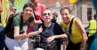 Gabriele Sprengseis, Martin Ladstätter und Johanna Mang bei Powerparade 2018 / Foto: Lukas Ilgner