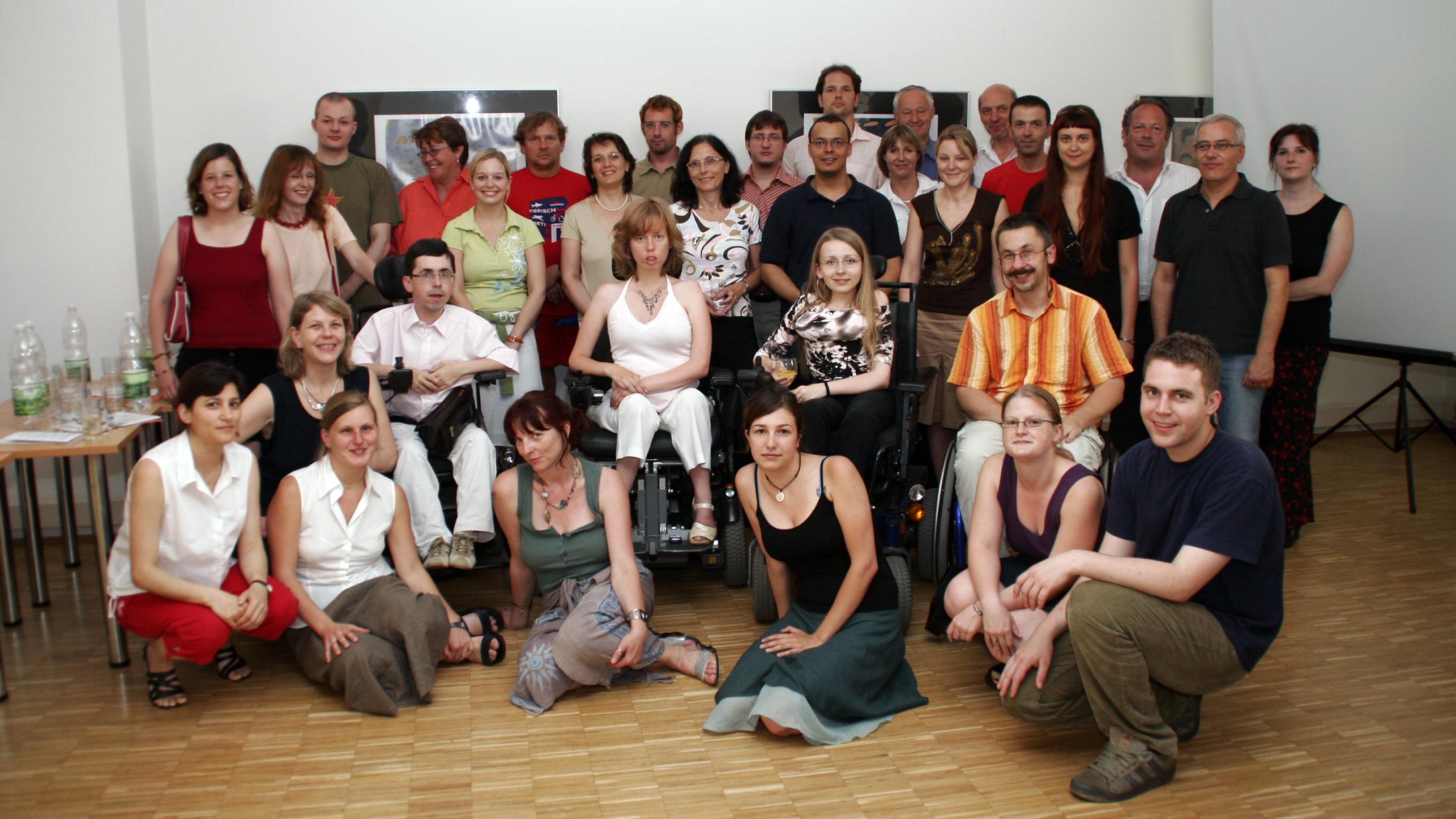 Gruppenbild: LiNK_pr: Lehrgang für barrierefreie Öffentlichkeitsarbeit Martin Ladstätter