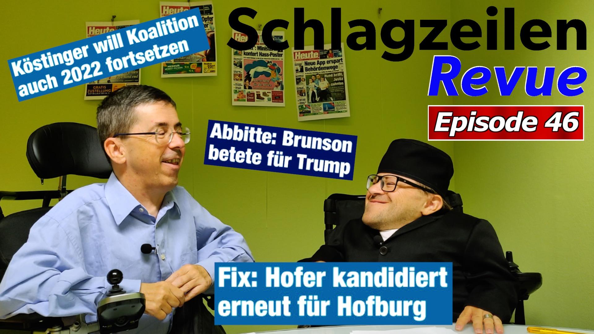 Schlagzeilen Revue vom 21. Oktober 2018