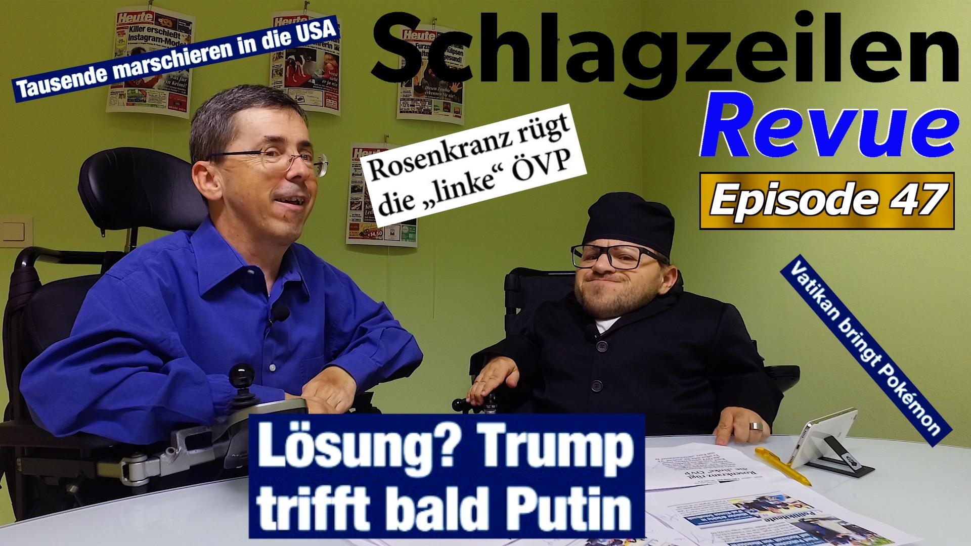 Schlagzeilen Revue vom 28. Oktober 2018