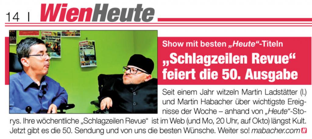 Die HEUTE vom 14. November 2018 berichtet über die Schlagzeilen Revue.