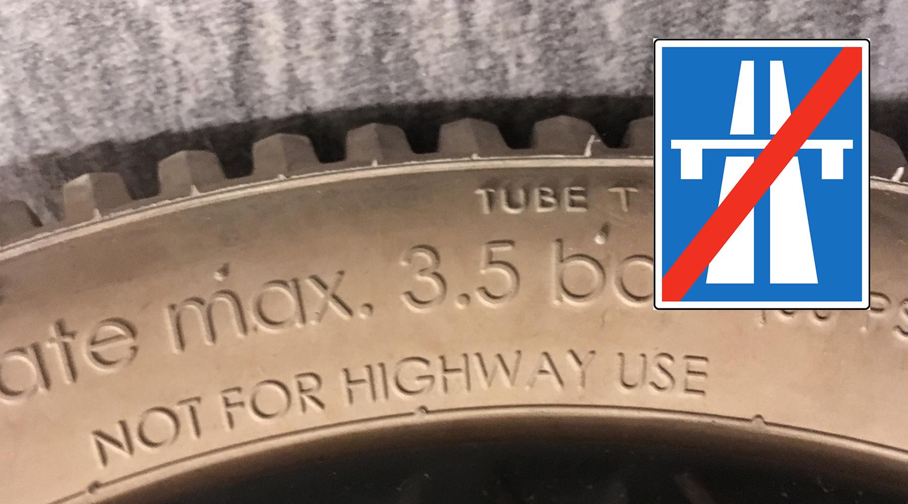 Nicht auf der Autobahn verwenden
