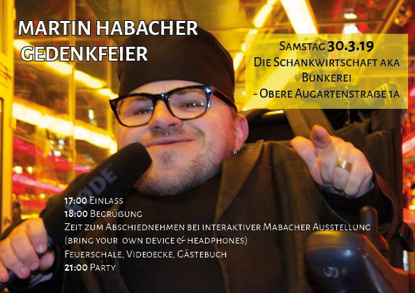 Martin Habacher - Gedenkfeier am 30.3.2019