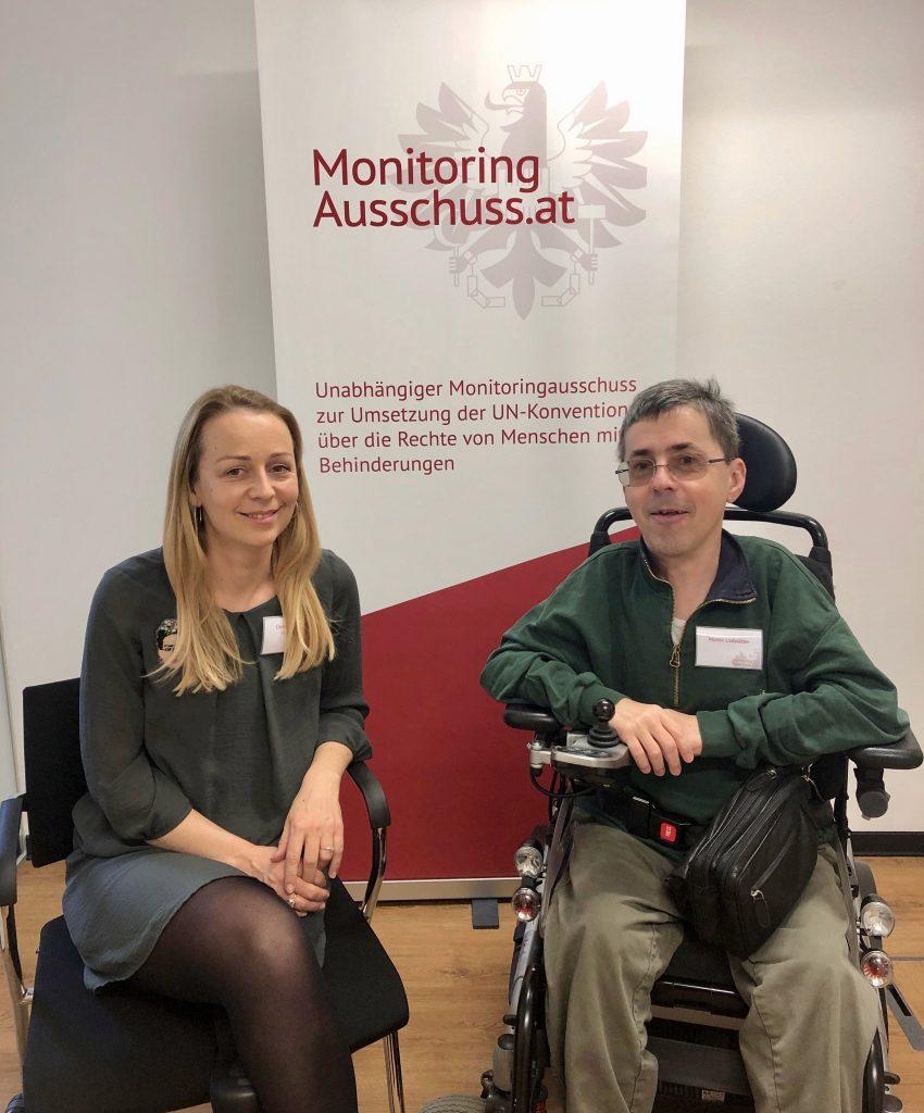 Christine Steger und Martin Ladstätter vom Monitoringausschuss