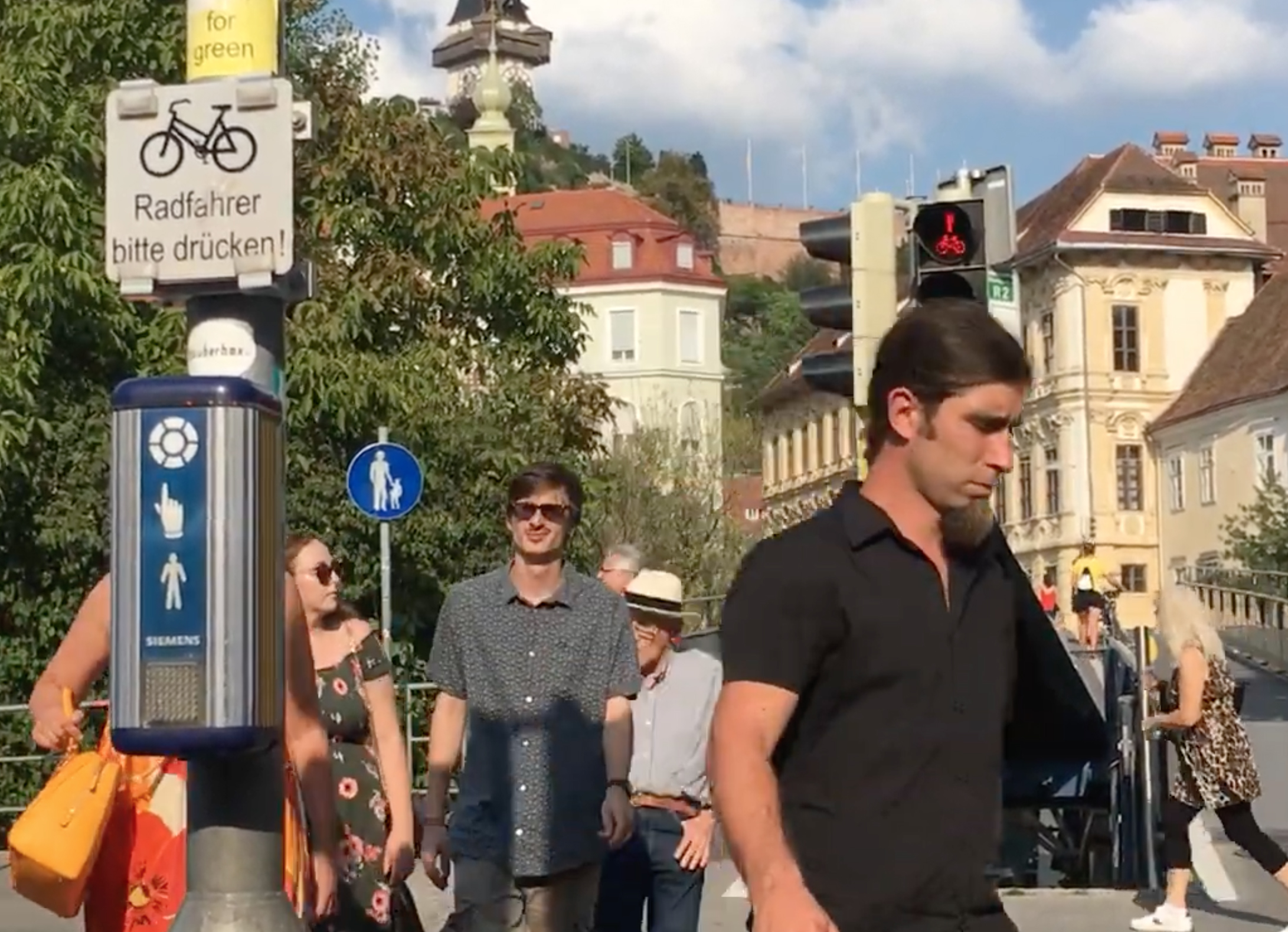 Rote Ampel in Graz