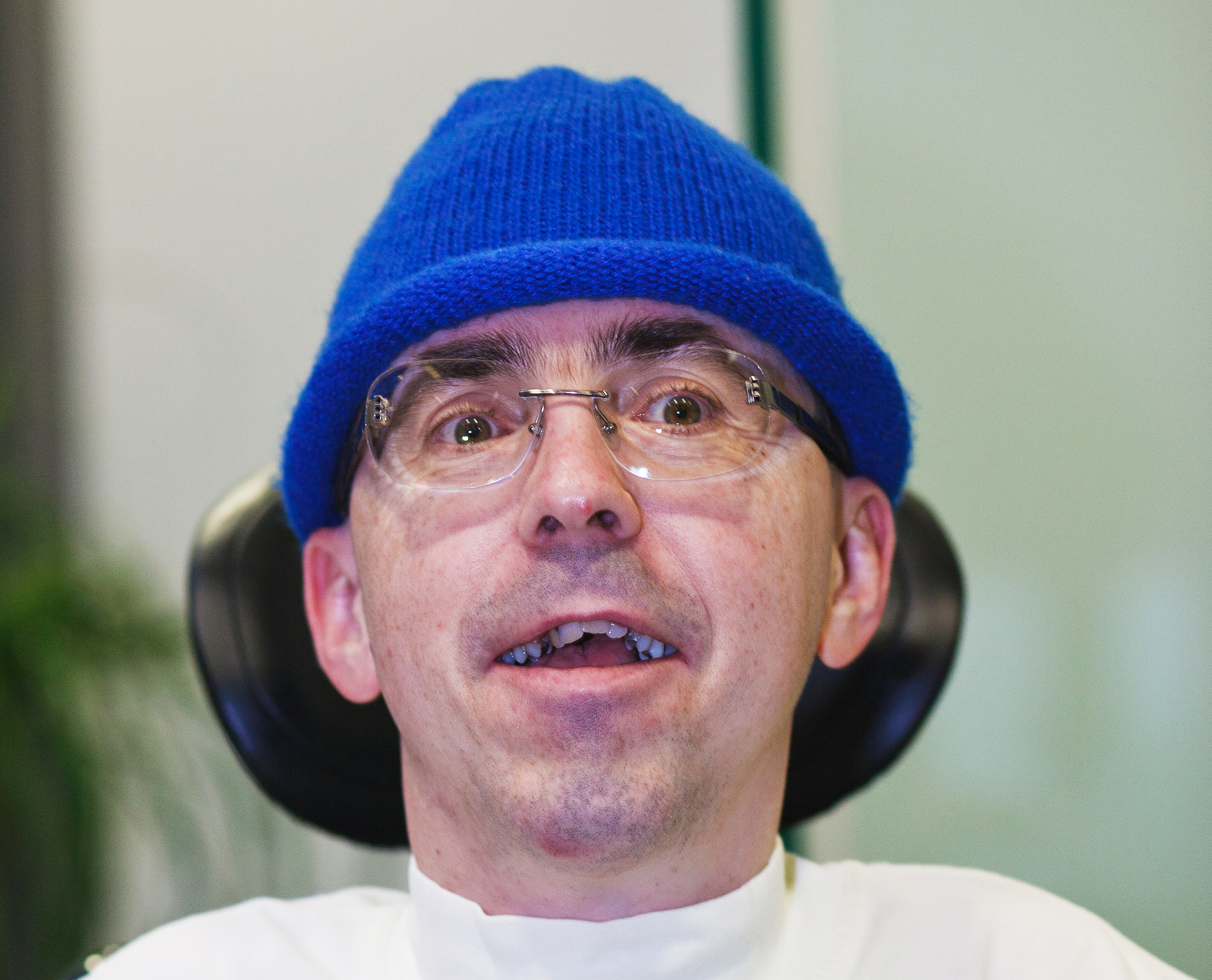 Martin Ladstätter mit blauer Mütze