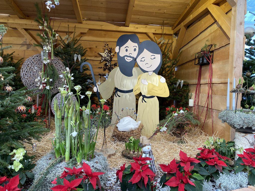 Krippe in der Weihnachtsausstellung 2019 in den Blumengärten Hirschstetten