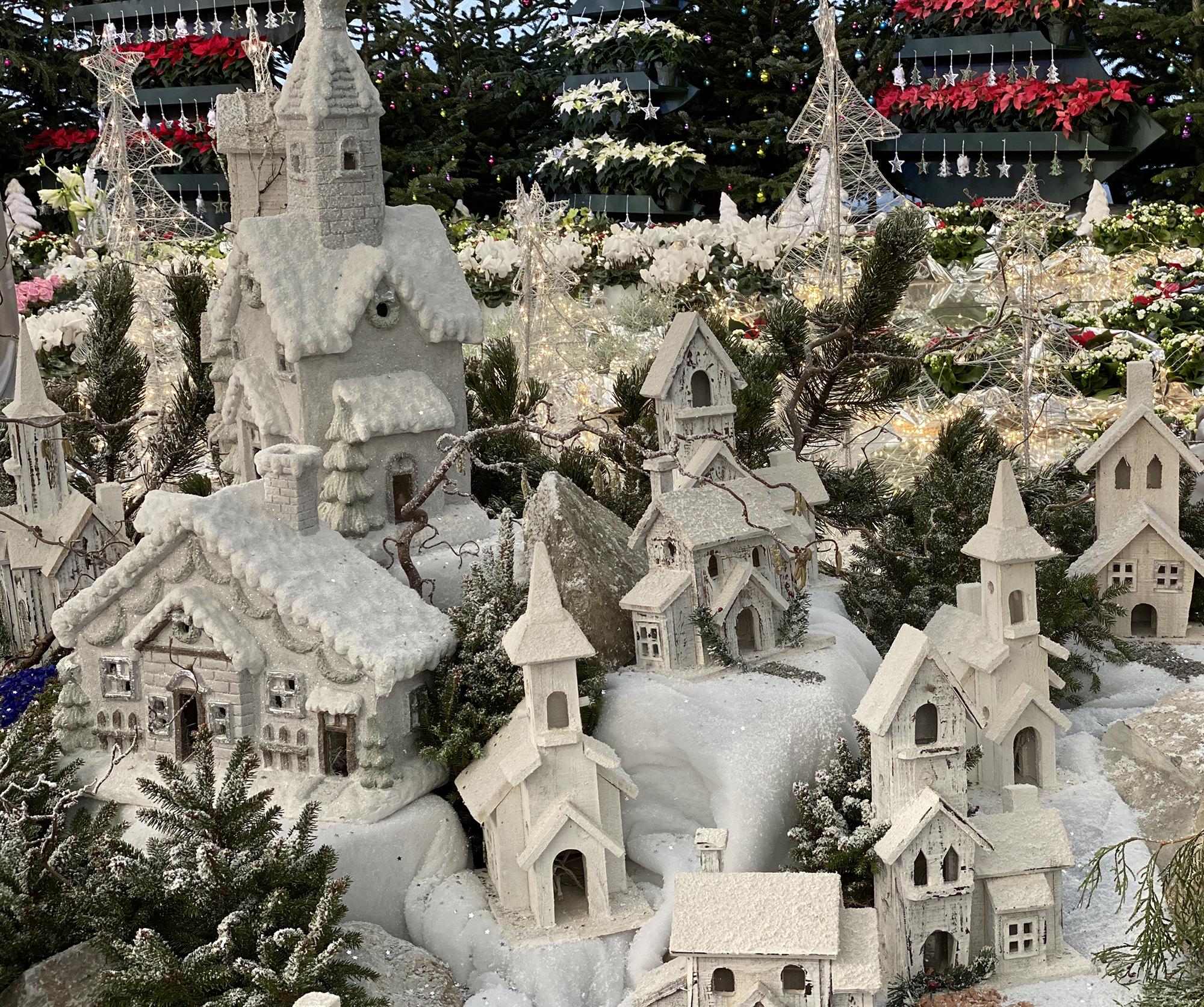 Dorf in der Weihnachtsausstellung 2019 in den Blumengärten Hirschstetten