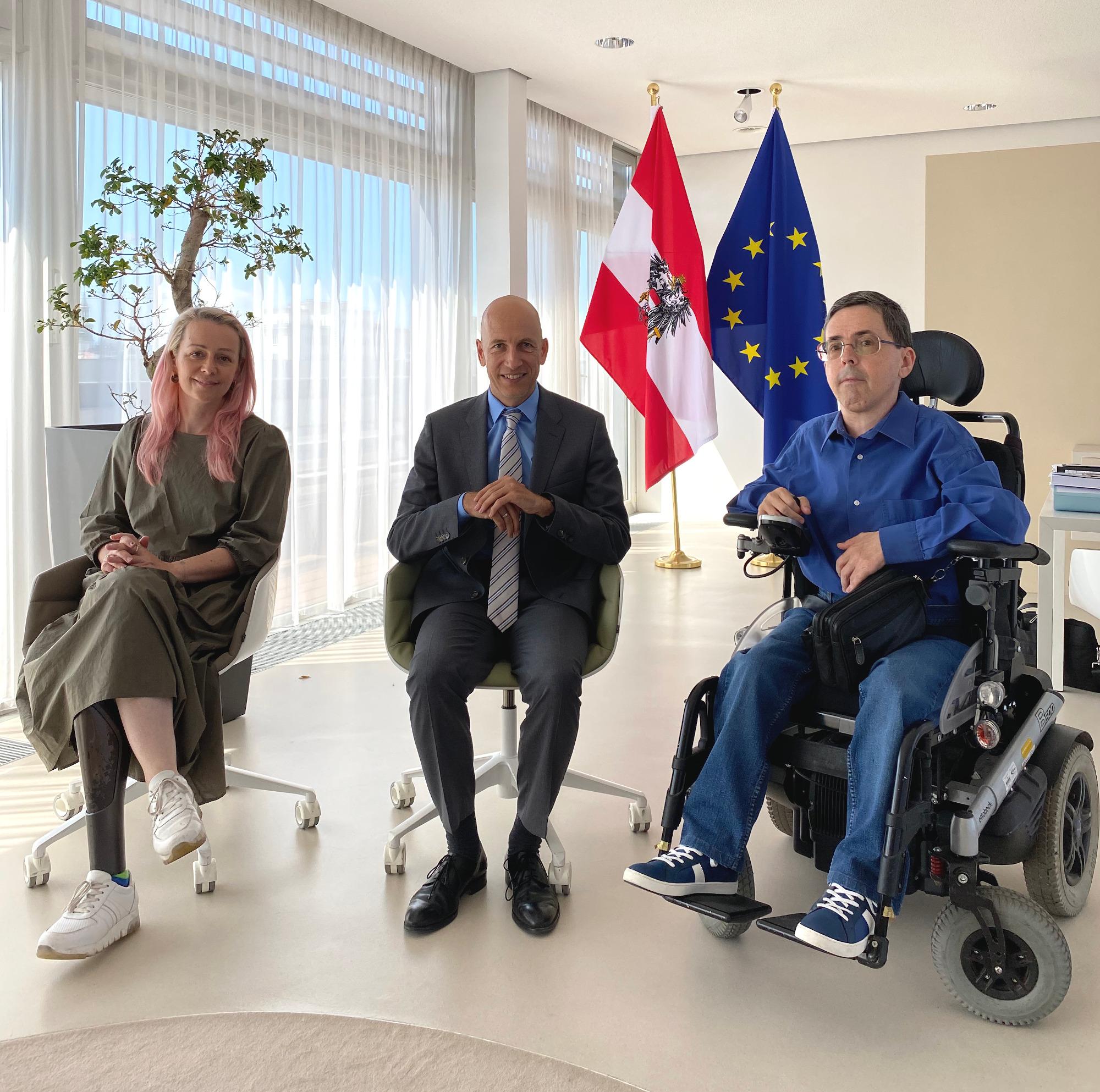 Christine Steger, Martin Kocher, Martin Ladstätter